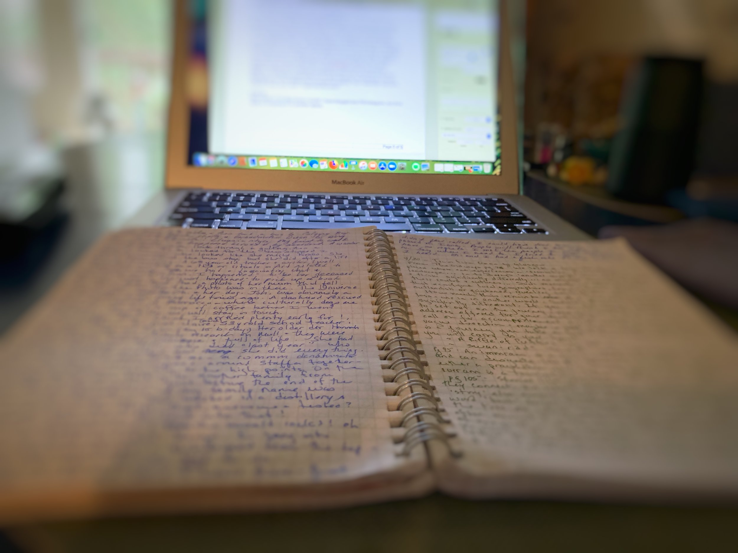 Transcribing my hand-written journal from my sojourn. Sometimes it is difficult to read my own writing! There are times I have to stop and just rest in what I wrote. And remember the beauty, the stories, the feelings that arose then and sit with the ones stirring now.