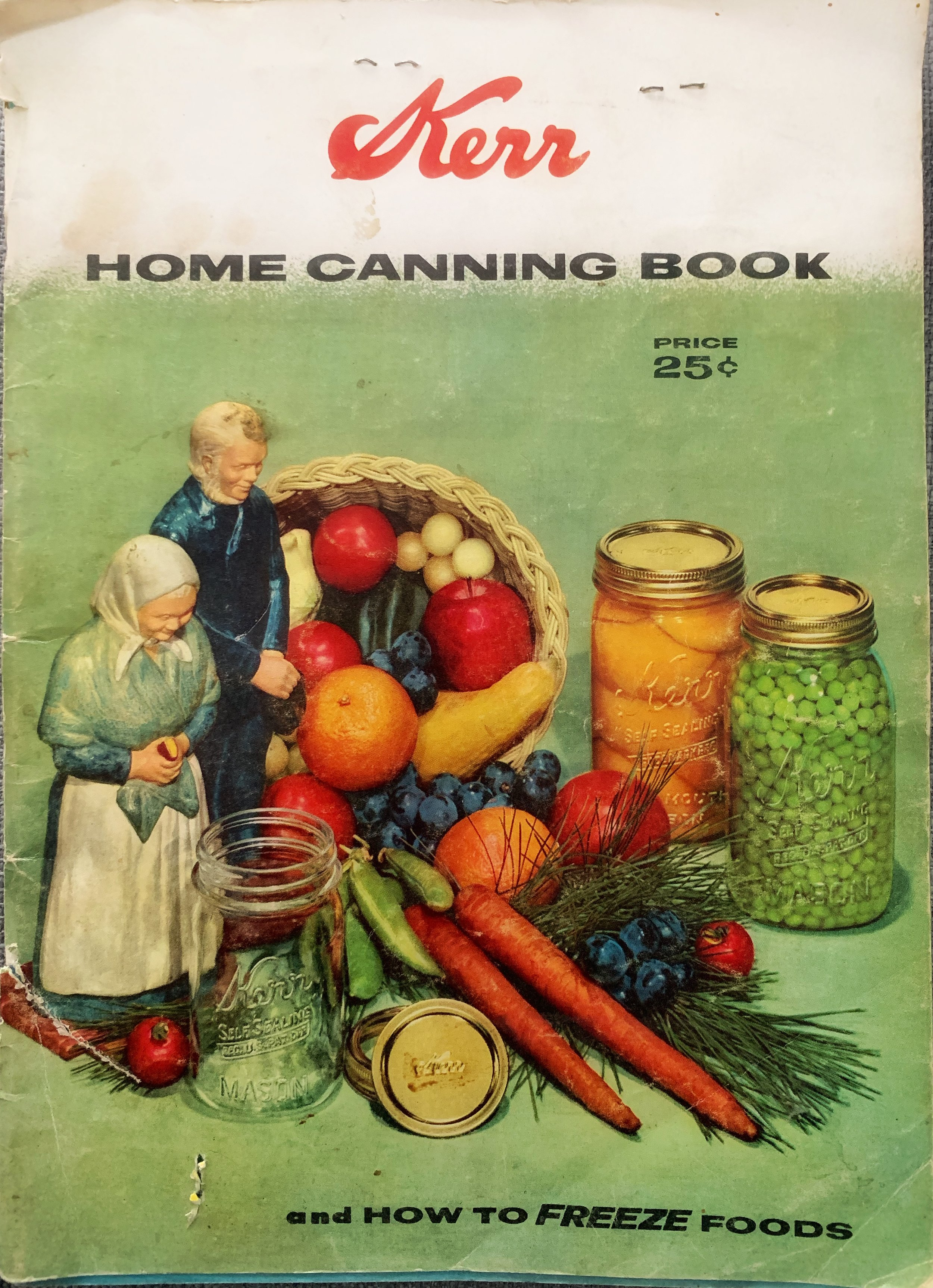 My mum's canning book which has her notes in it.