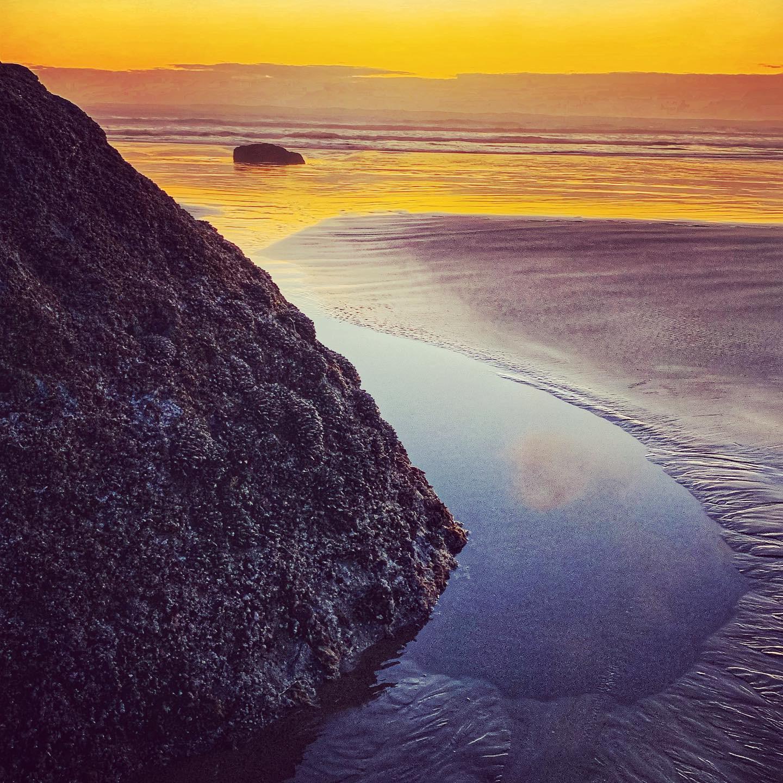 Sunset on my birthday at Hug Point State Park, Oregon. photo by anne richardson