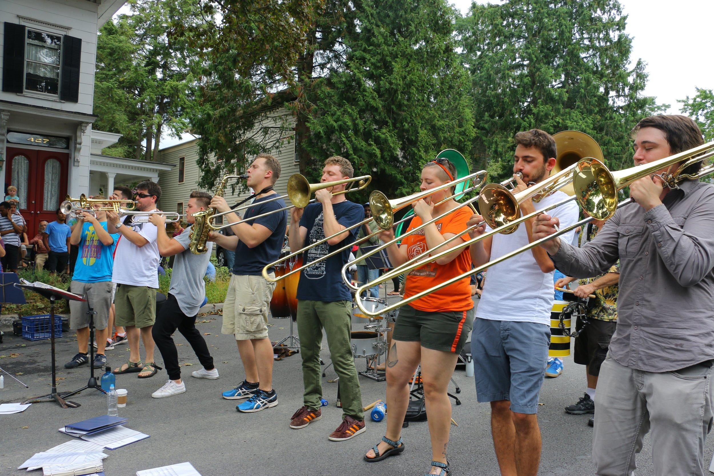 Fall Creek Brass Band Street Closure.JPG