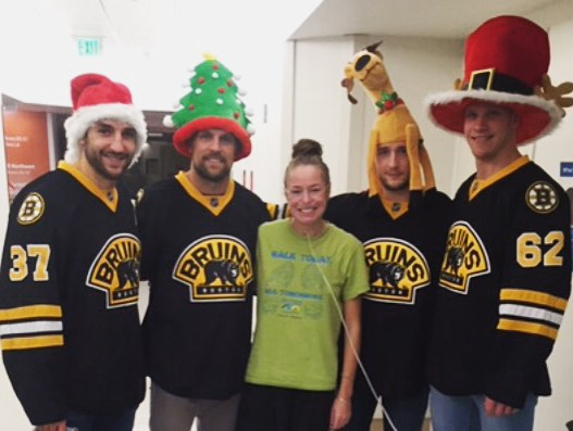 The Bruins came to visit Children's Hospital and Rima got to meet them!