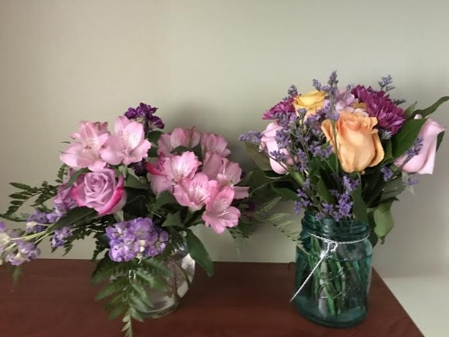 Beautiful flowers mother and father dearest sent me last week! they smell amazing! :)