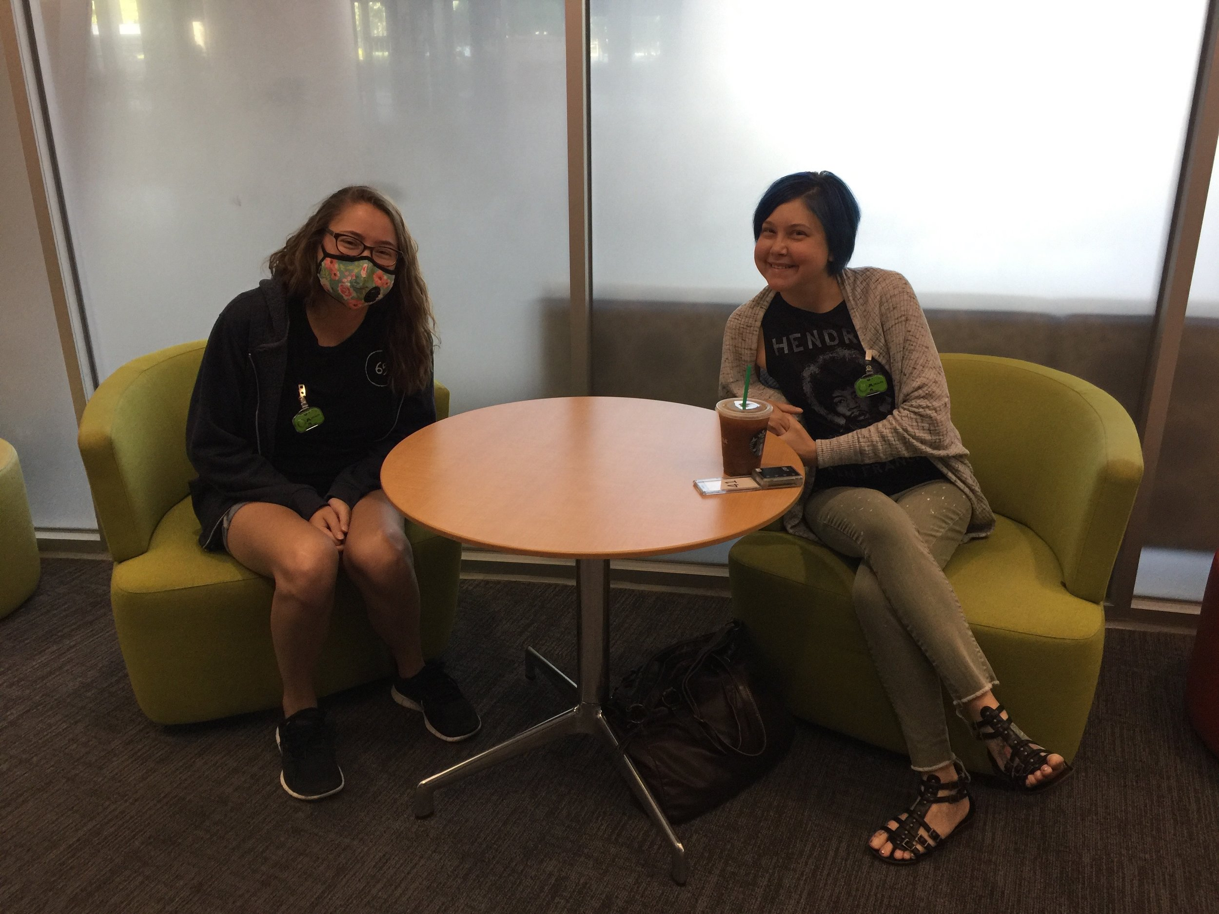 Rima and another post double lung transplant CFer - Alexis