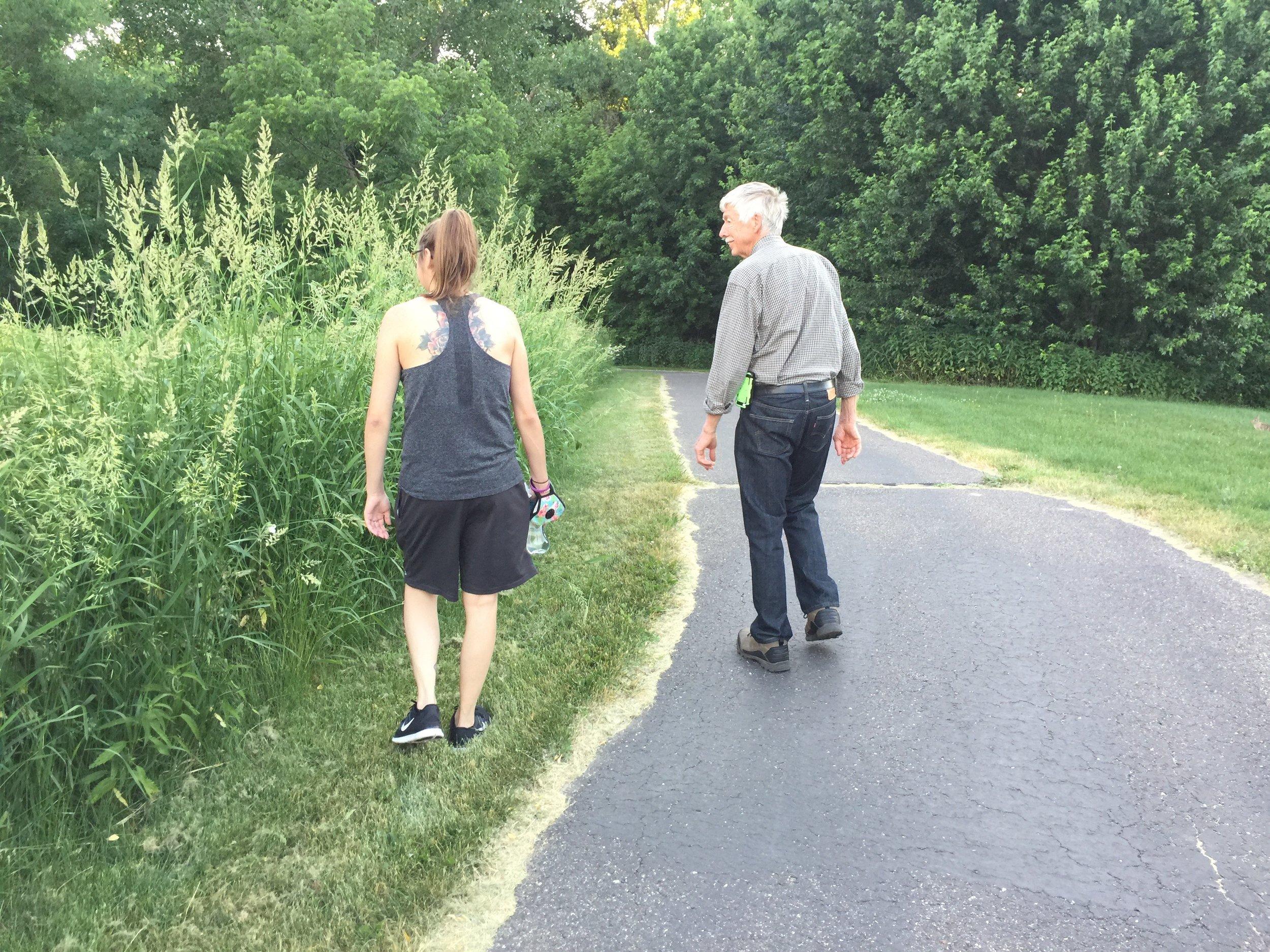 Evening walk, look at that super tall grass
