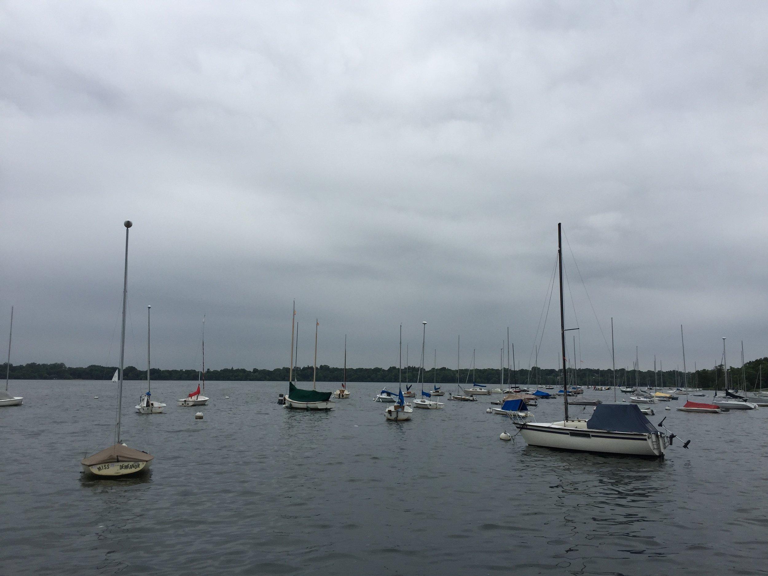Lake Harriet looked like Maine!