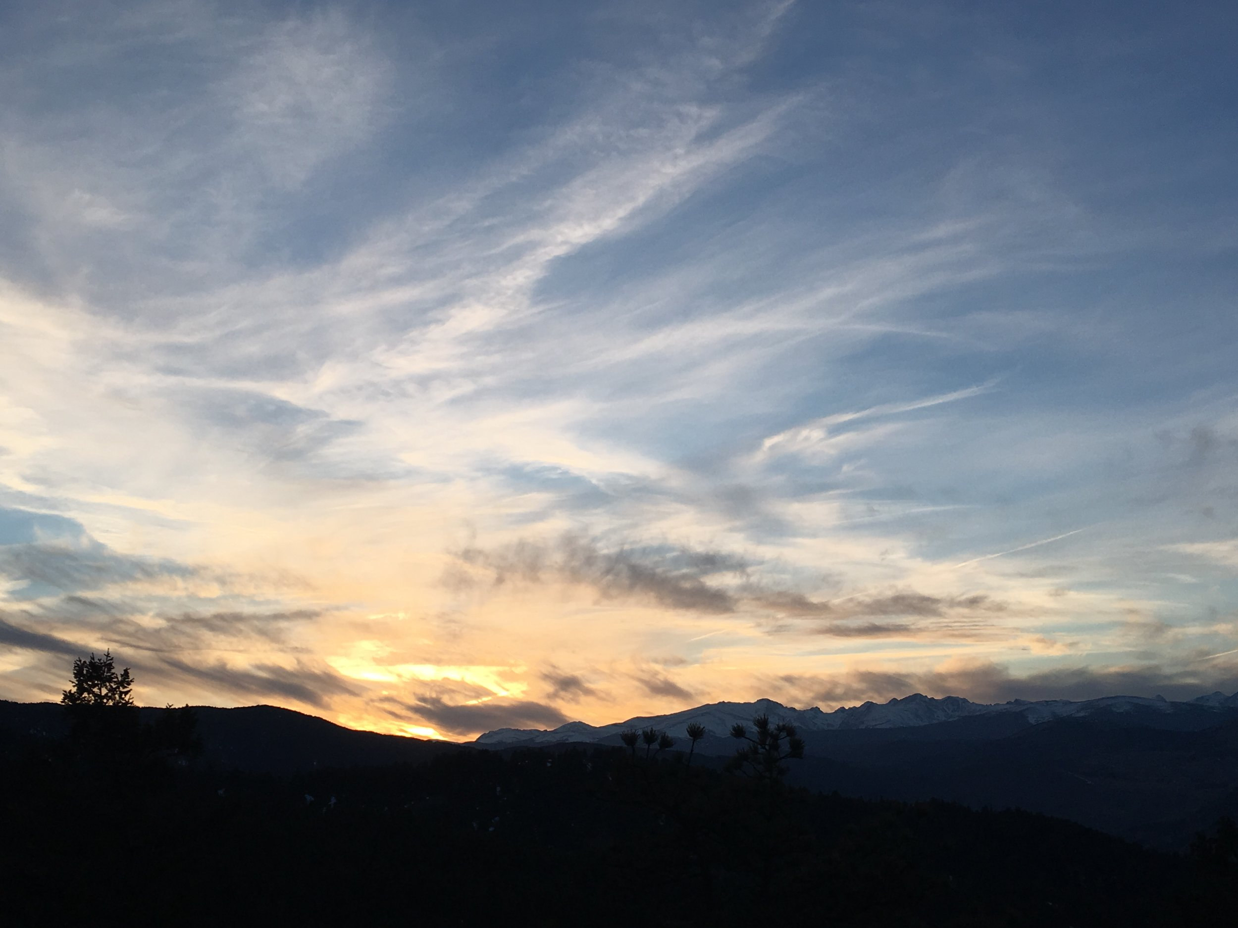 Lost gulch lookout sunset.