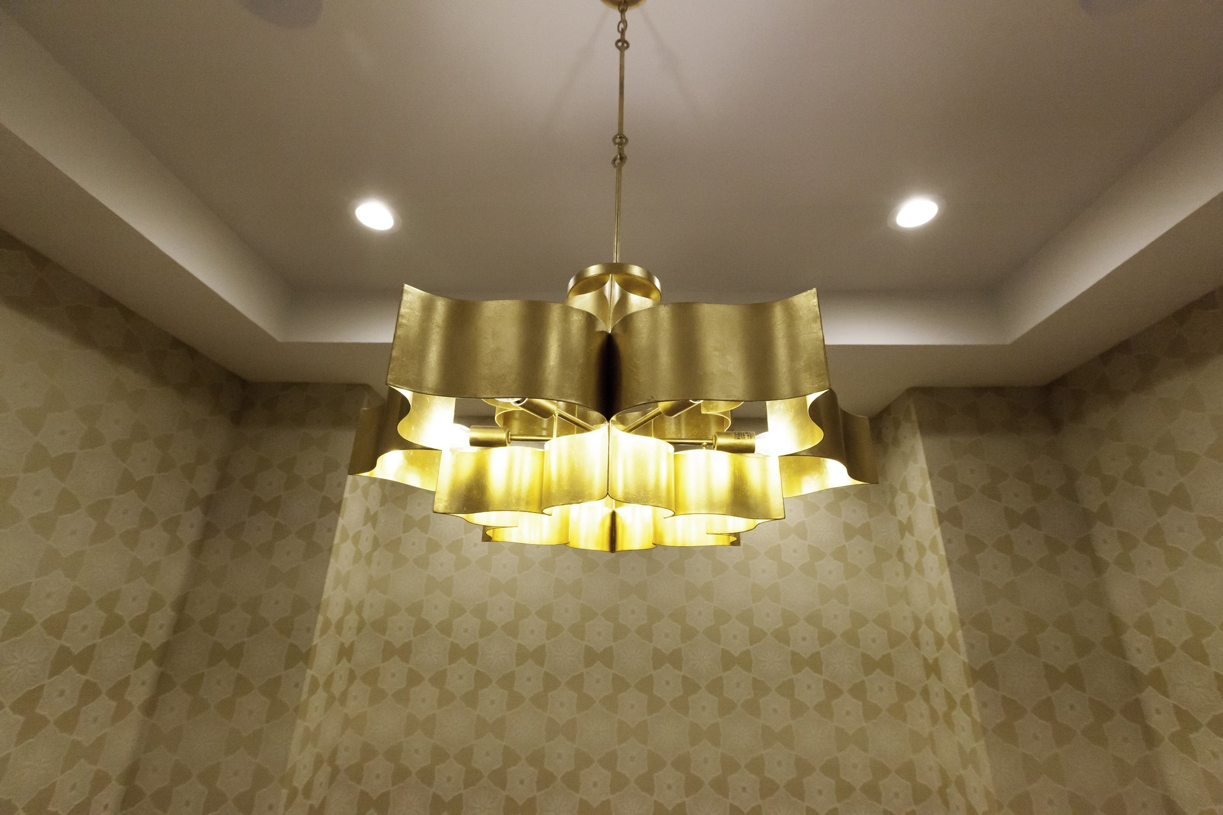 Curry and Company Chandelier in Dining Room