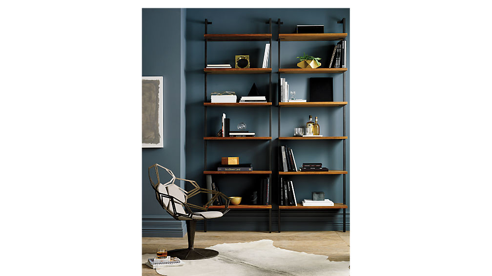 helix acacia bookcase by crate and barrel's cb2 online