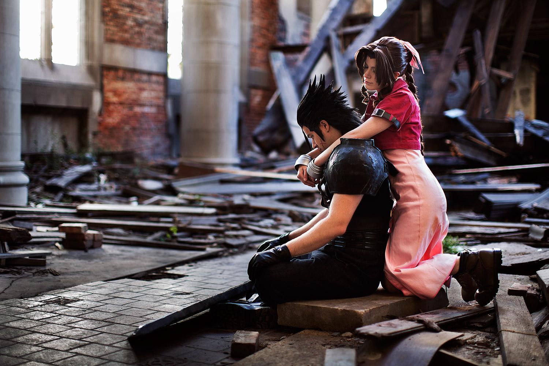 """Zack + Aerith, """"Final Fantasy VII"""""""