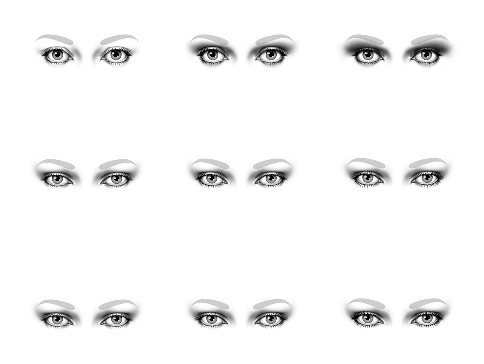 Eye makeup illos