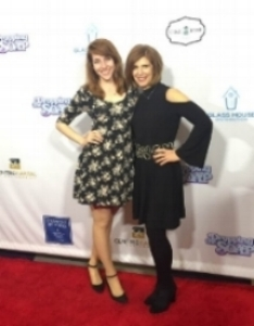 Judy Kain with Jessica Lynn Verdi at the Dropping The Soap Premiere
