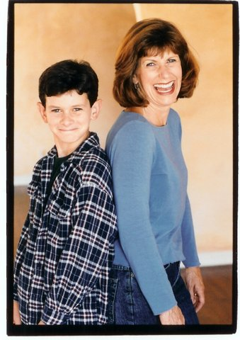 Judy Kain and her son Frankie Manes.