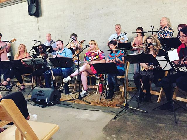 Thank you @everybodydancela and @ridebackranch for hosting The Ukelele Orchestra of the Western Hemisphere.  What an amazing night to benefit the children of The Gabriella Foundation's Everybody Dance program!