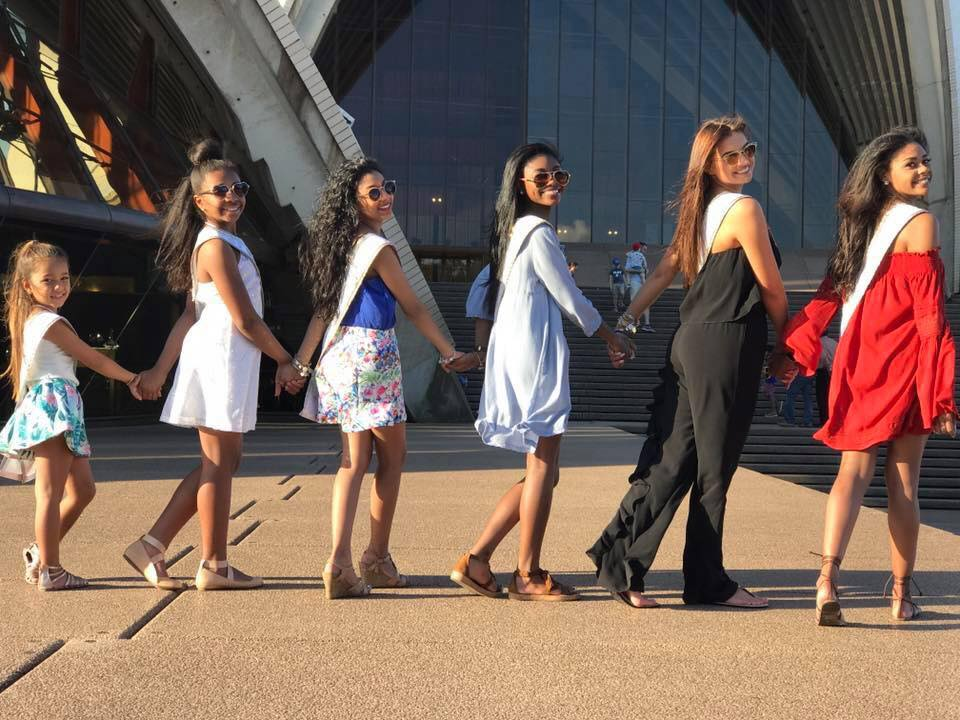 Posing on the steps of the Sydney Opera House