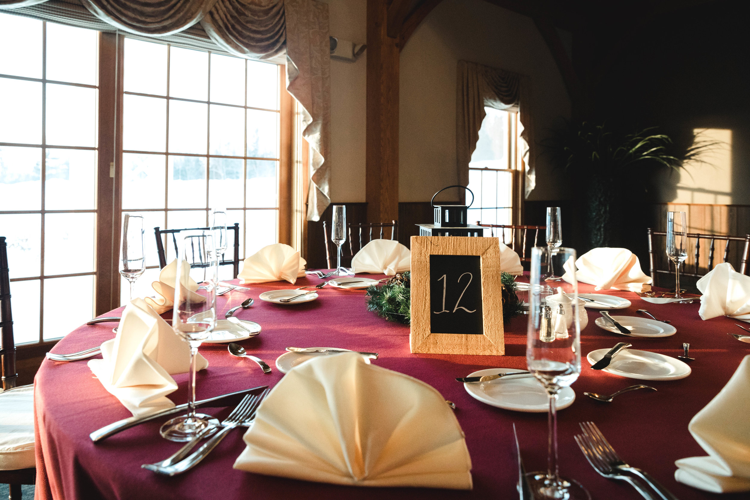Massachusetts wedding reception tablescape