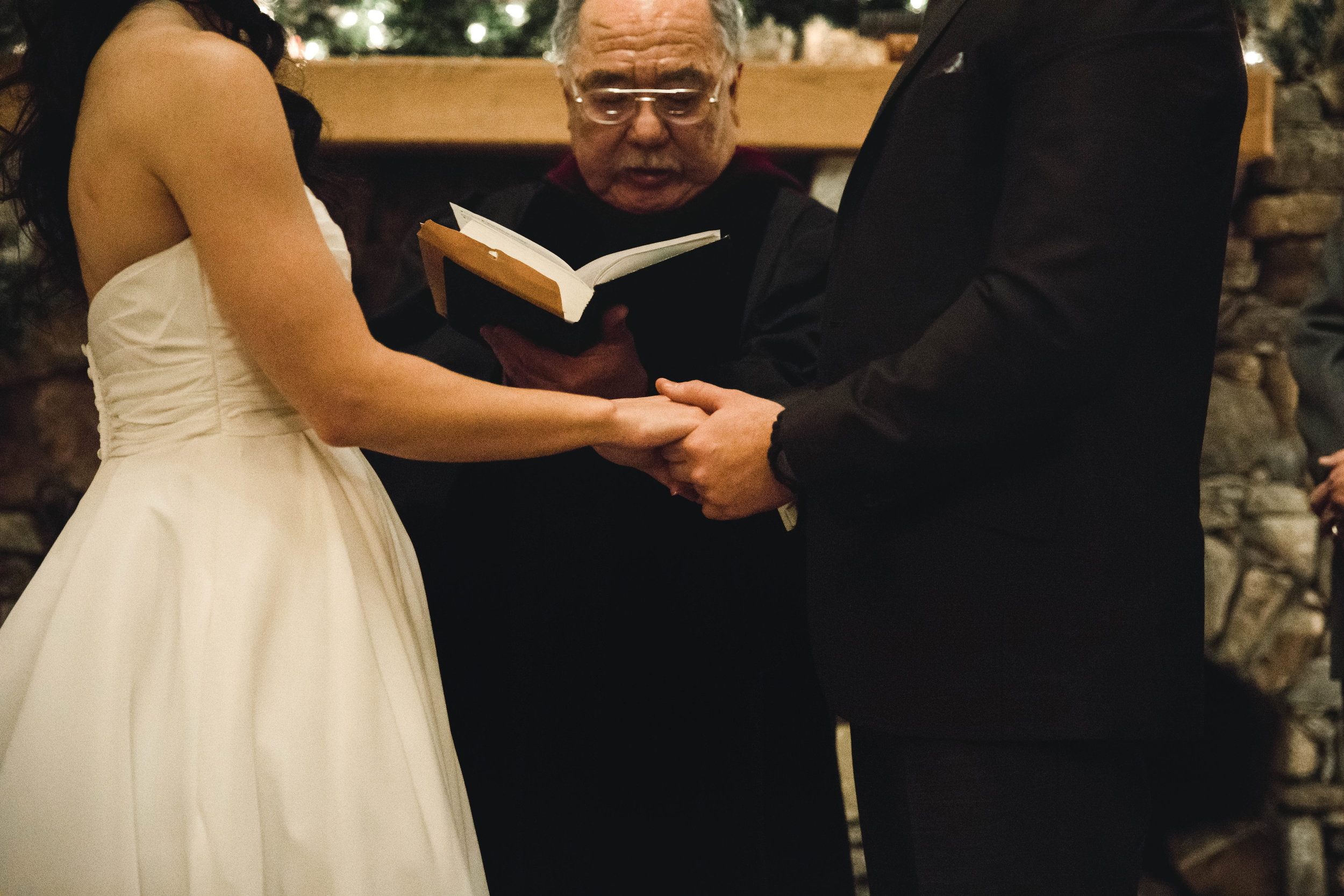 bride and groom at ceremony