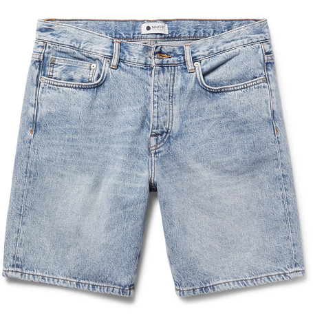 NN07 Washed-Denim Shorts