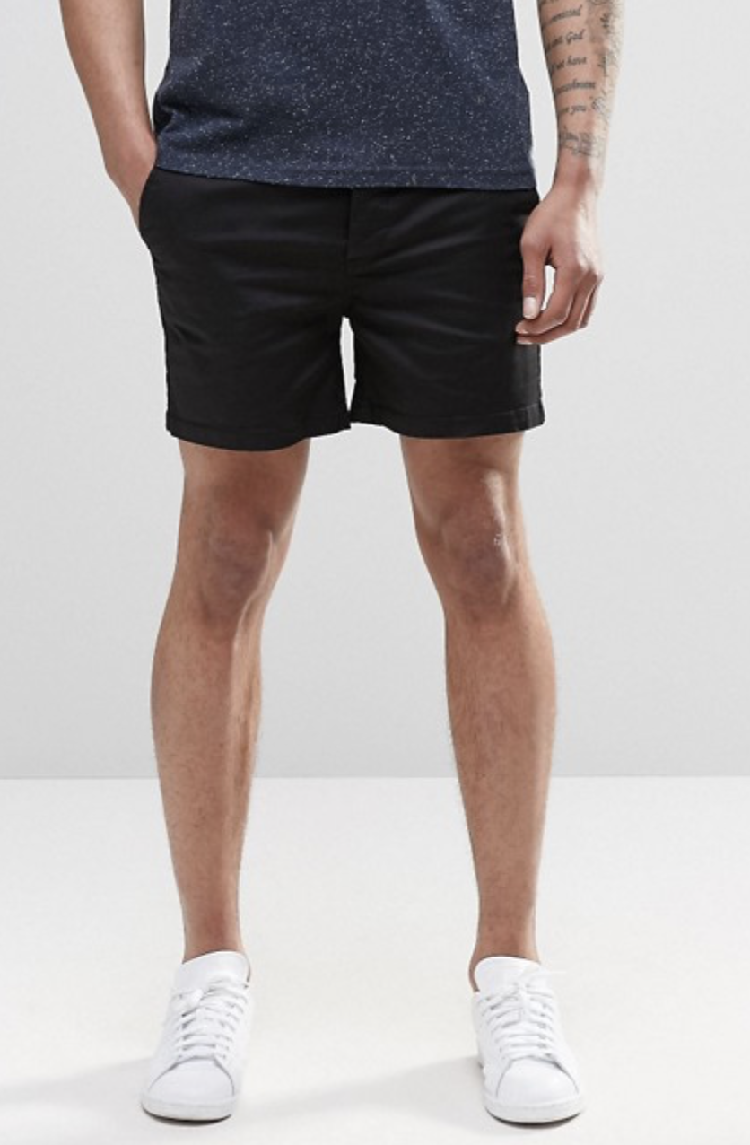 ASOS Chino Shorts In Skinny Fit Shorter Length