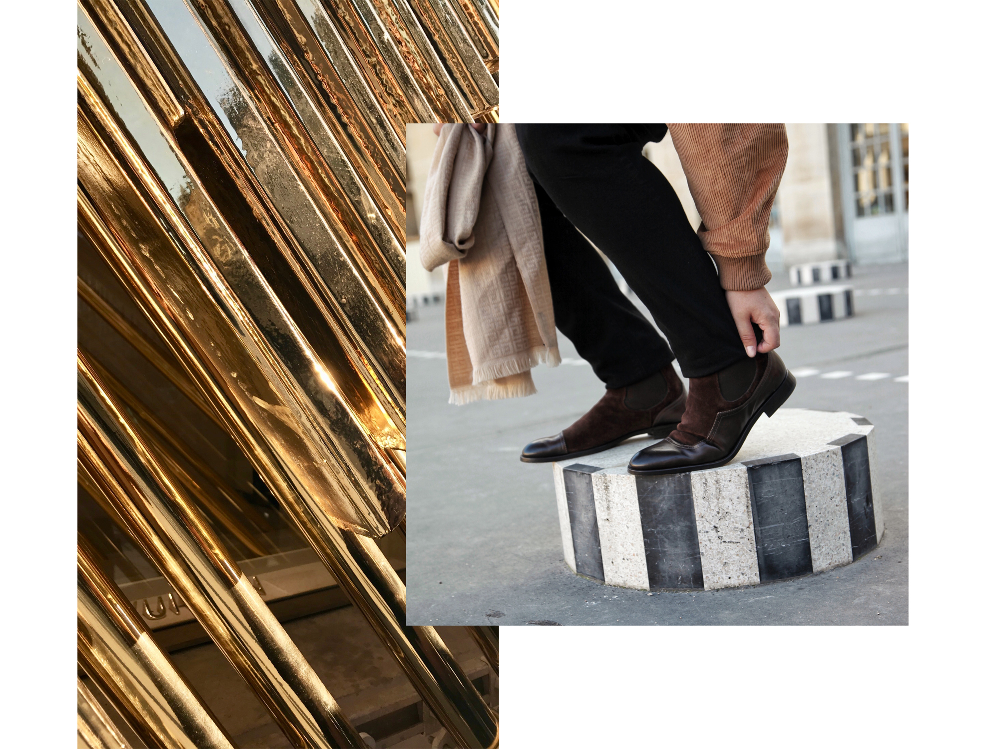 Shoes courtesy of  Fratelli Rossetti