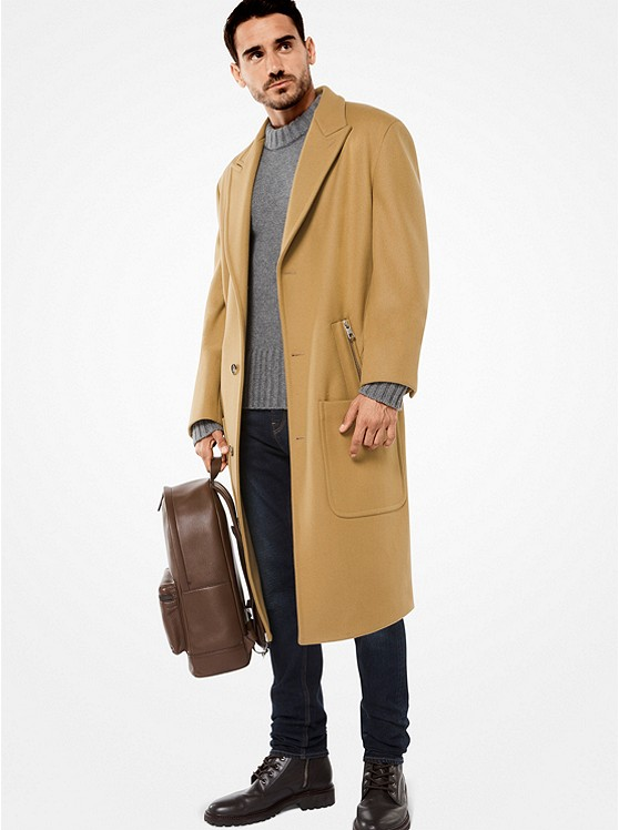 MICHAEL KORS MENS Wool-Melton Coat