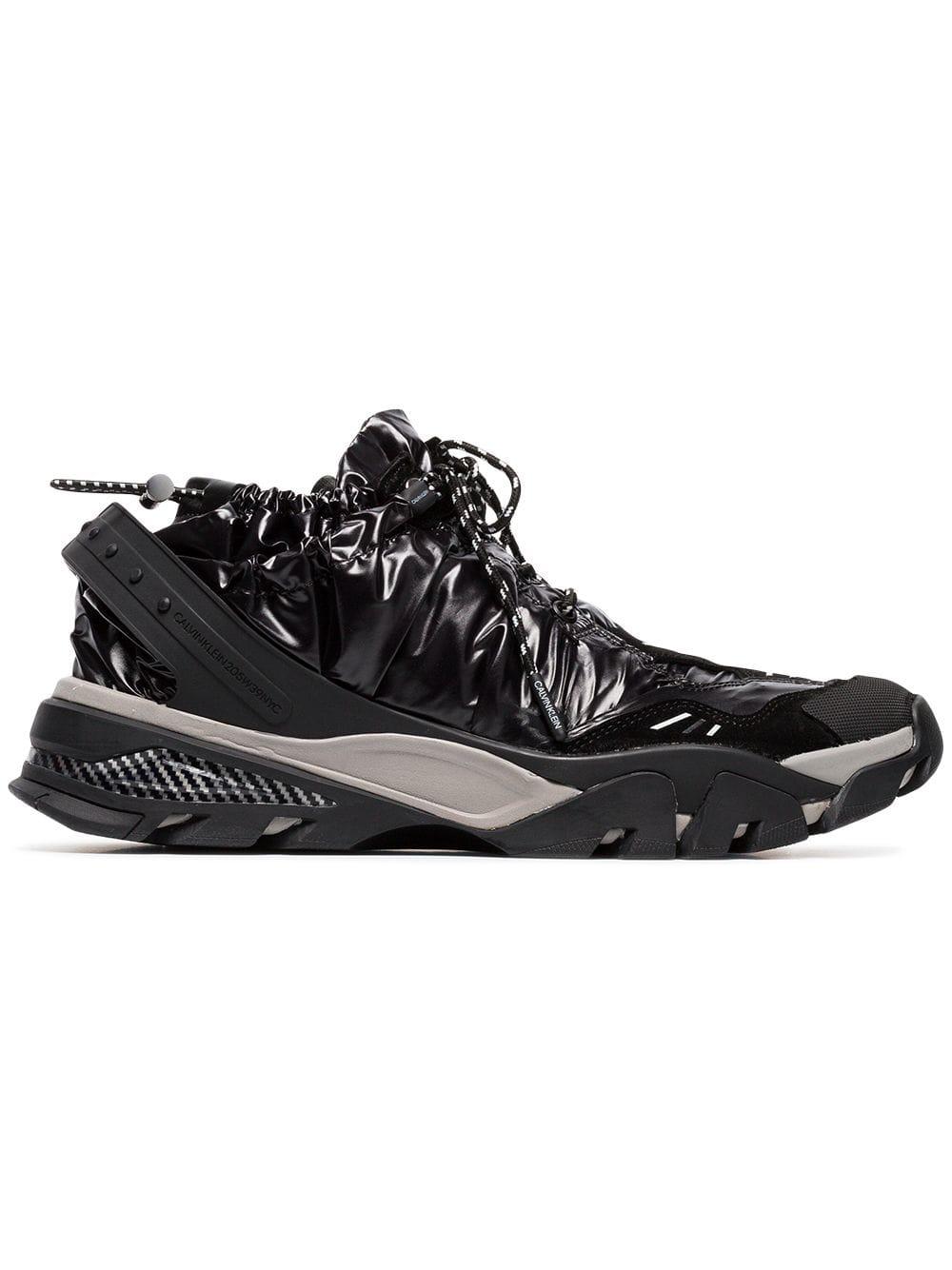 Calvin Klein Black Nylon Carsdat Sneakers