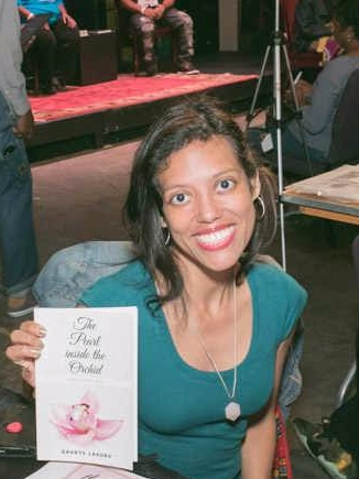 Promoting my book, The Pearl inside the Orchid at the Black Book Expo, New York, NY.