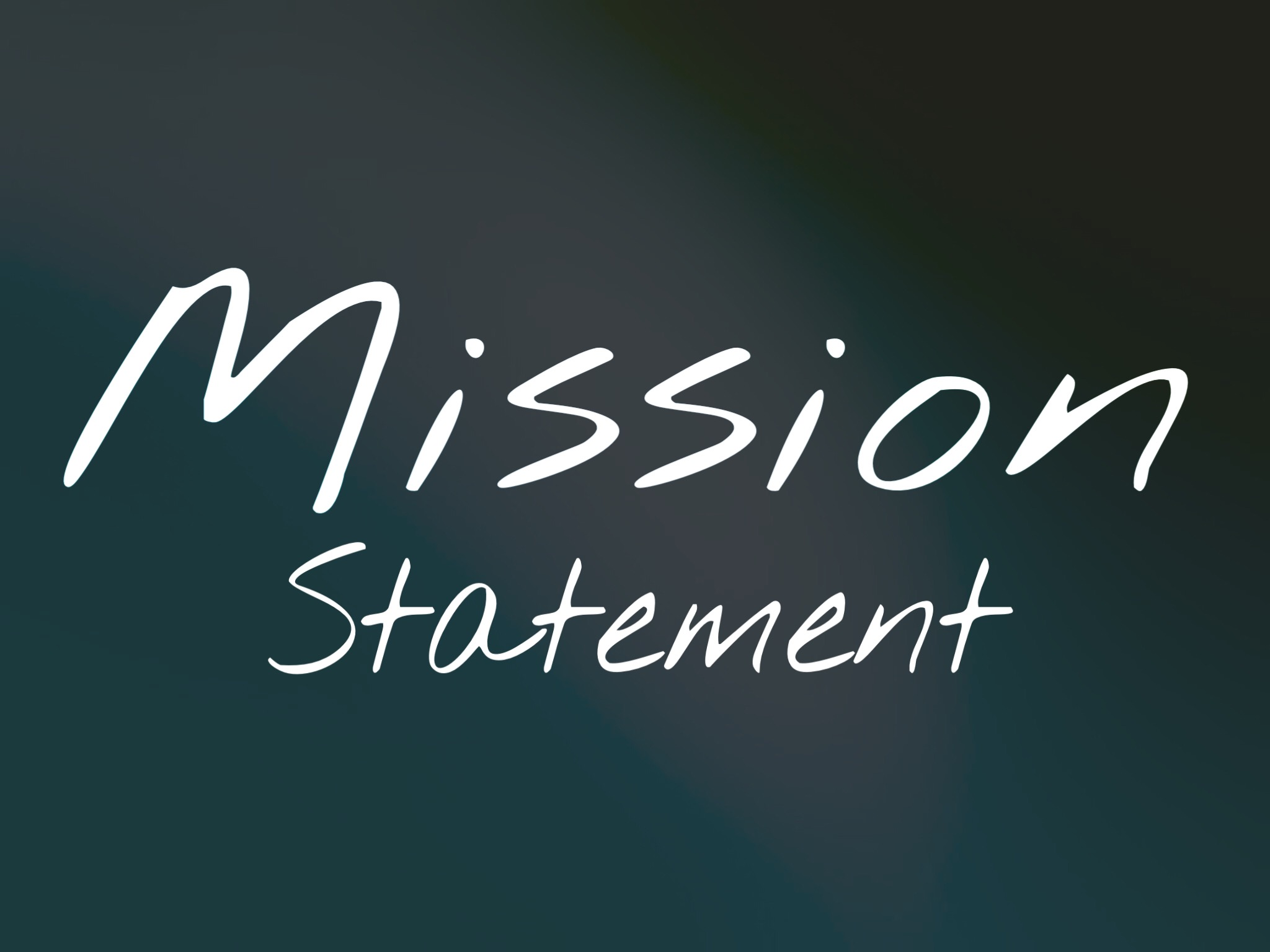 - Living out Christ in our community
