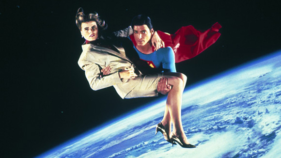 """That's a woman's hair blowing in the """"space wind"""" as Superman saves her. No joke, this is part of Superman IV: The Quest for Peace. You haven't seen """"bad"""" with comic book movies until you've seen this."""