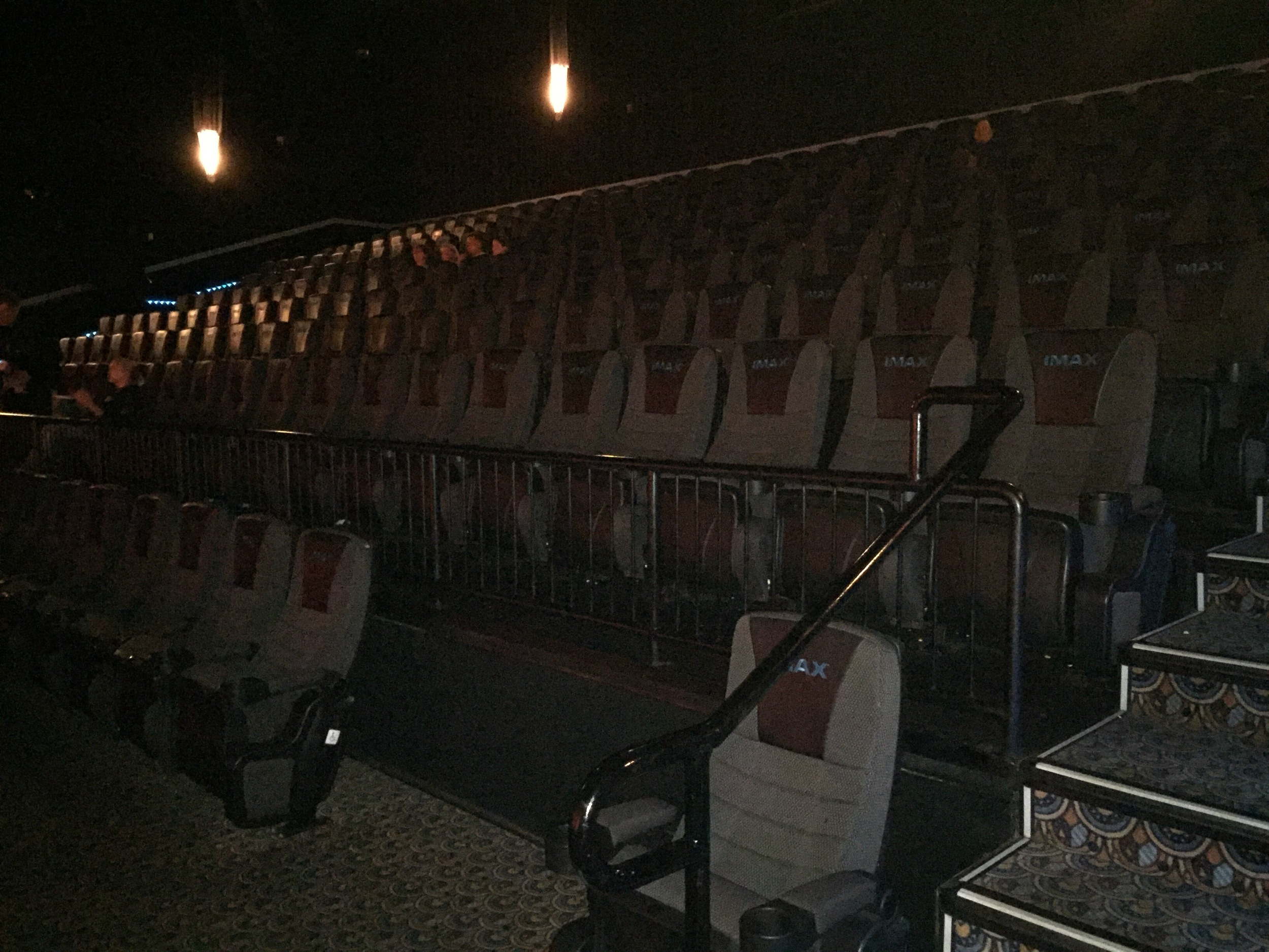 This was our IMAX theater for TMNT: Out of the Shadows. Granted it was a Sunday night, but still it's an opening weekend for a major summer blockbuster and there might have been 10 people in the theater total when the movie started. Yikes.