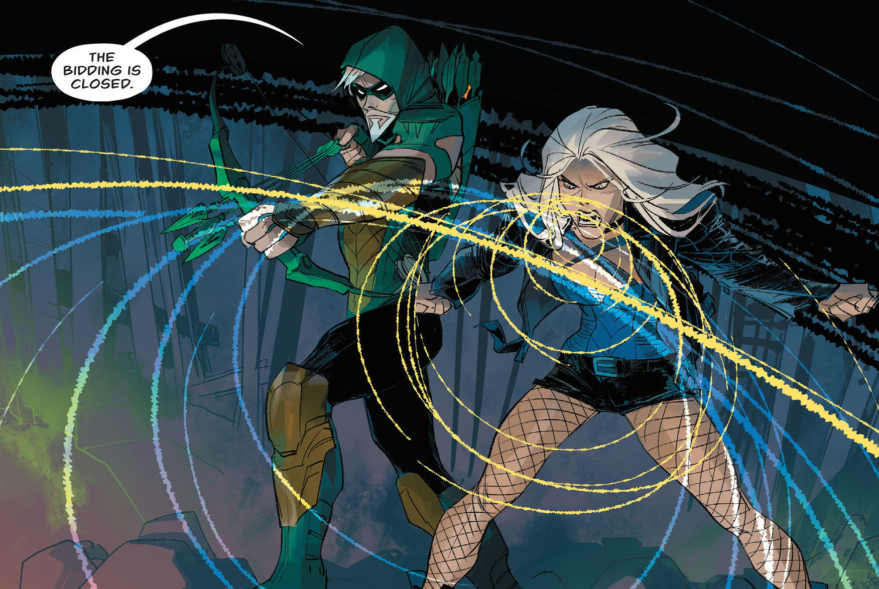 Maybe it's because I miss Laurel on the TV show now, but it's been great to see her and Oliver in action in the Rebirth comic series. They have a chemistry so far in these books that the show hasn't been able to match.