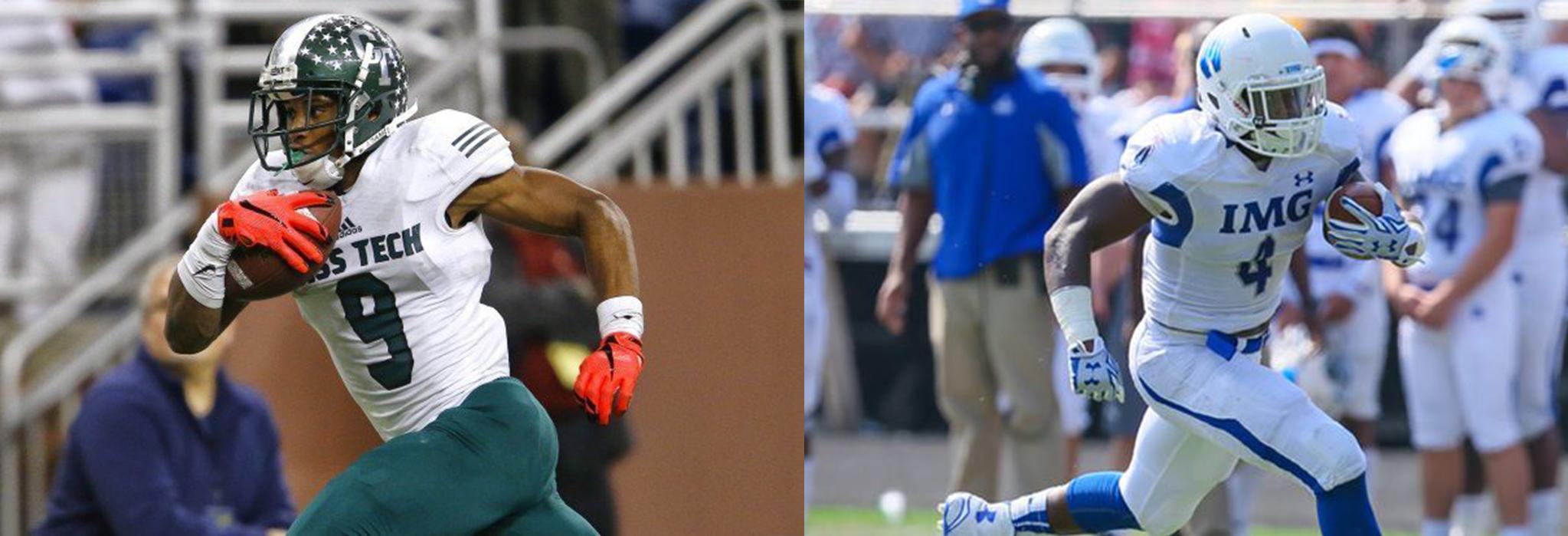 Michigan's five-star commits for 2017: WR Donovan Peoples-Jones(left), LB Jordan Anthony(right).
