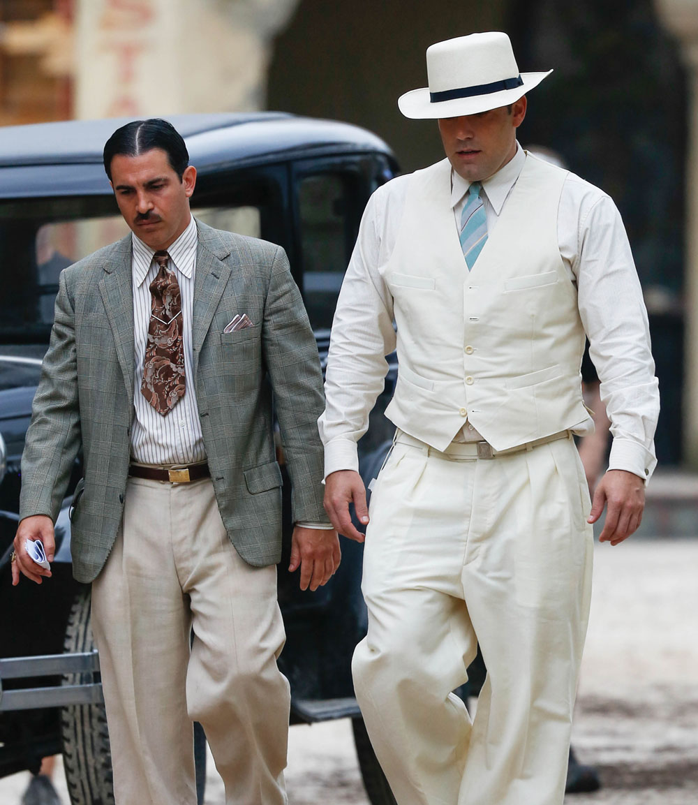 Chris Messina (left) and Affleck are thick as thieves in the movie and avoid a lot of the major gangster tropes with their character dynamic.