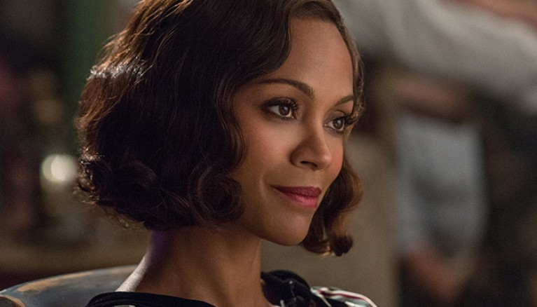 Zoe Saldana as Graciela Corrales, the Cuban woman who gives her heart to Coughlin and his kinder ways.