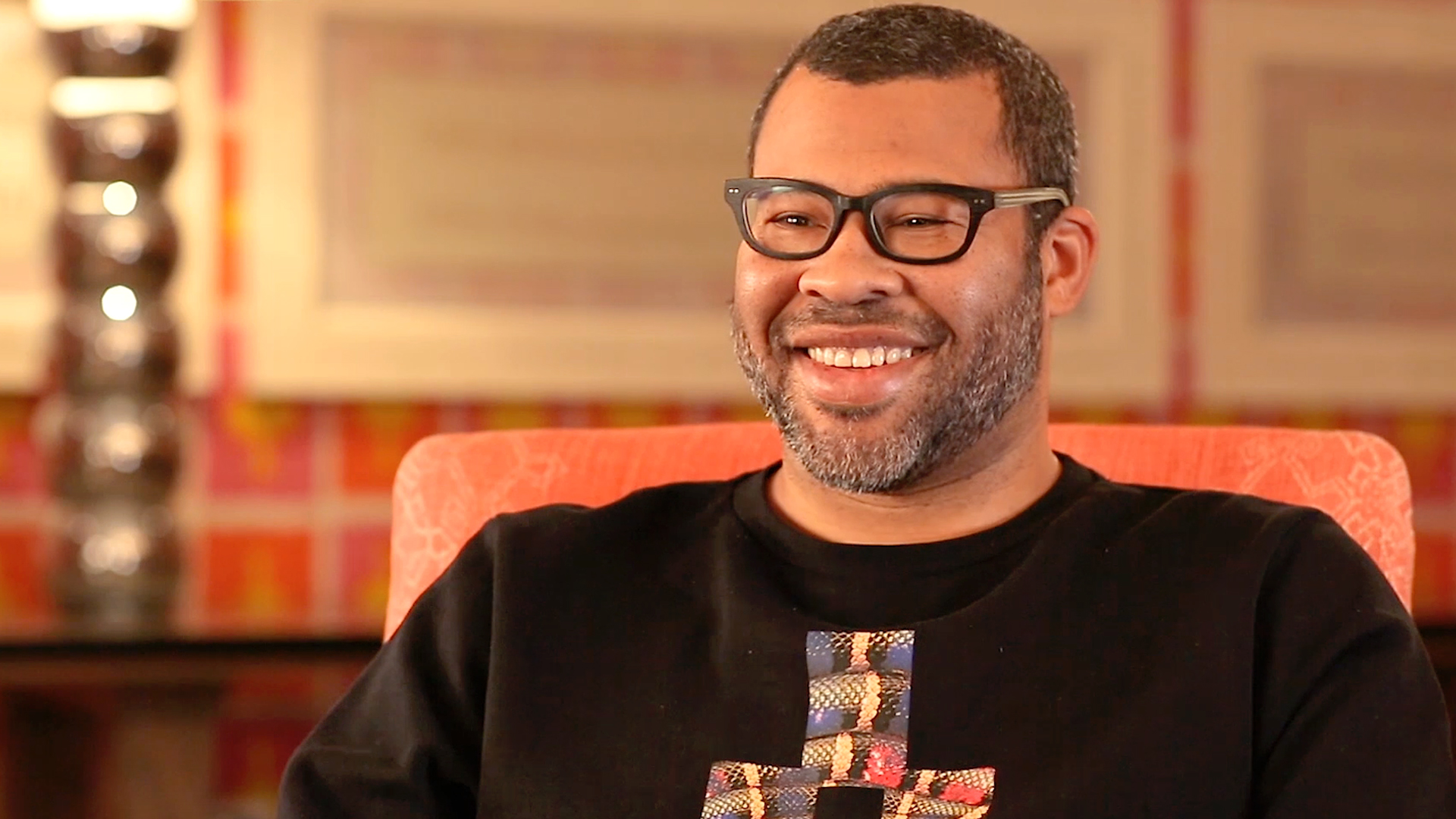 Jordan Peele, writer/director of Get Out. He previously partnered with Keegan-Michael Key on the acclaimed Comedy Central TV show Key and Peele.