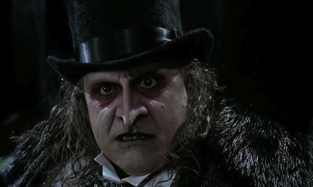 Danny DeVito's grotesquely evil Penguin that never once scared me......possibly because I knew it was Louie DePalma from Sunshine Cab Company under that makeup.