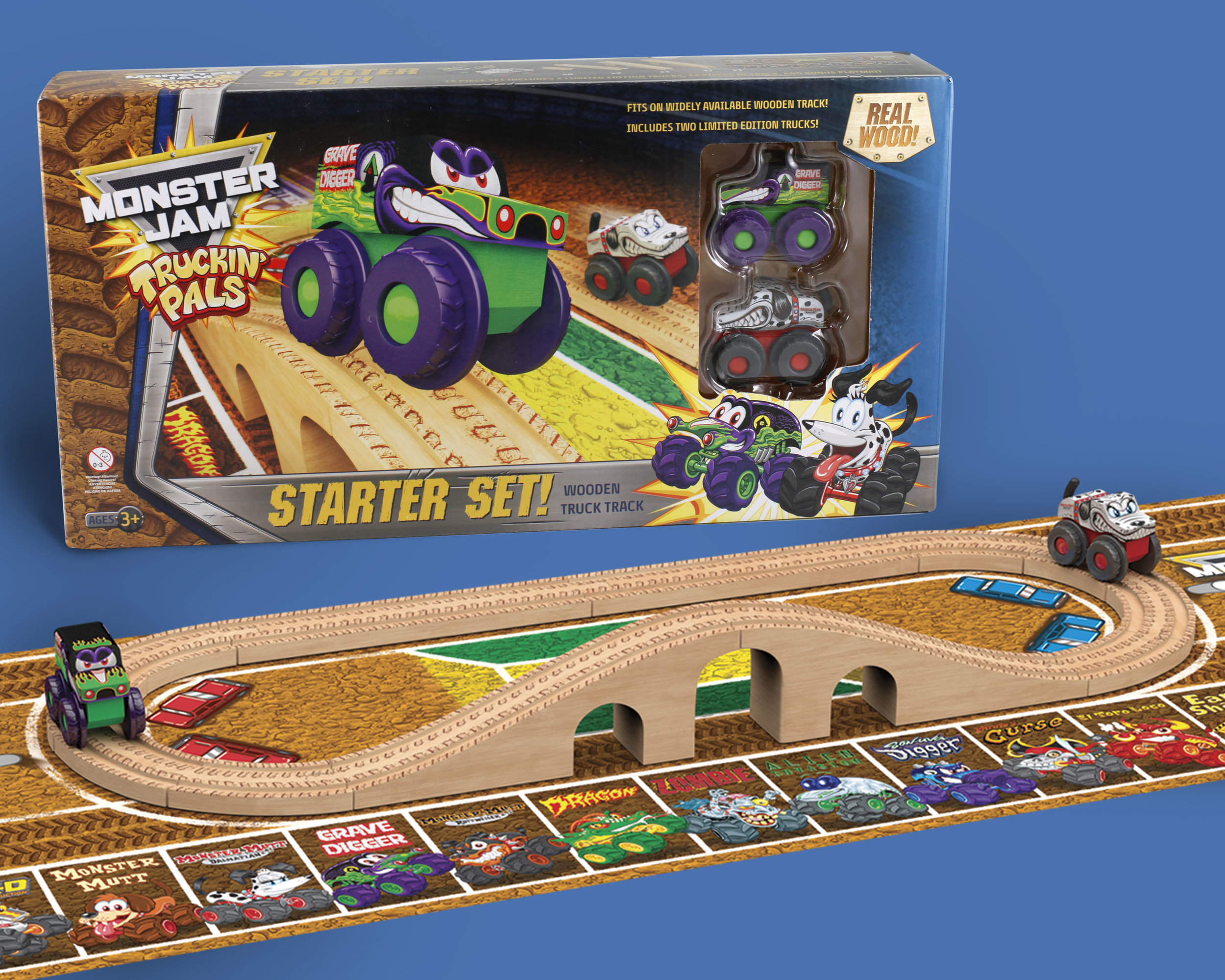 WOODEN TRAIN TOYS STARTER SET
