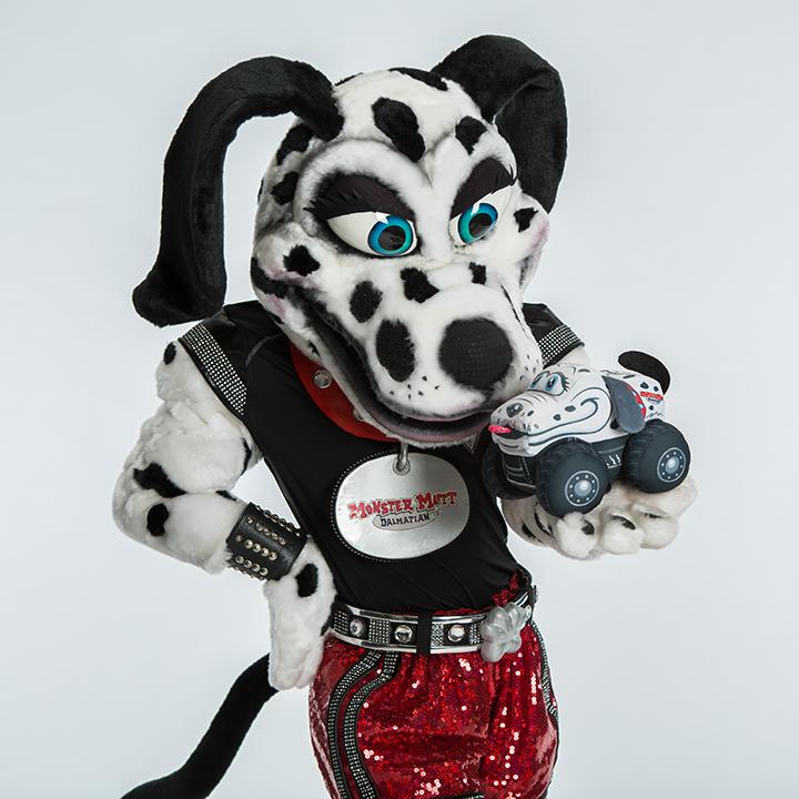 Monster Mutt Dalmatian Mascot