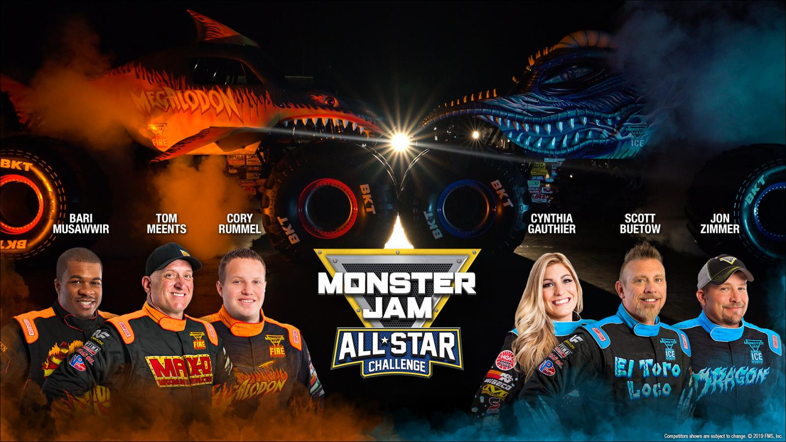Fan voting on Monsterjam.com to pick the drivers and Monster Jam trucks that will be a part of the Monster Jam All Star Challenge.