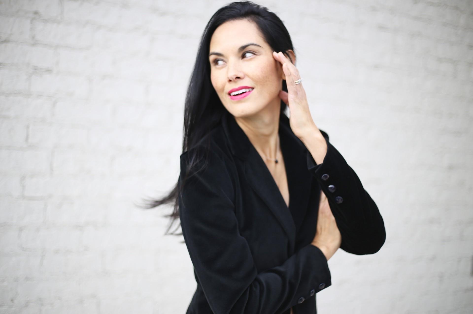 velvet blazer ( similar )   Nars  lipstick    photo by Sydney Clawson  