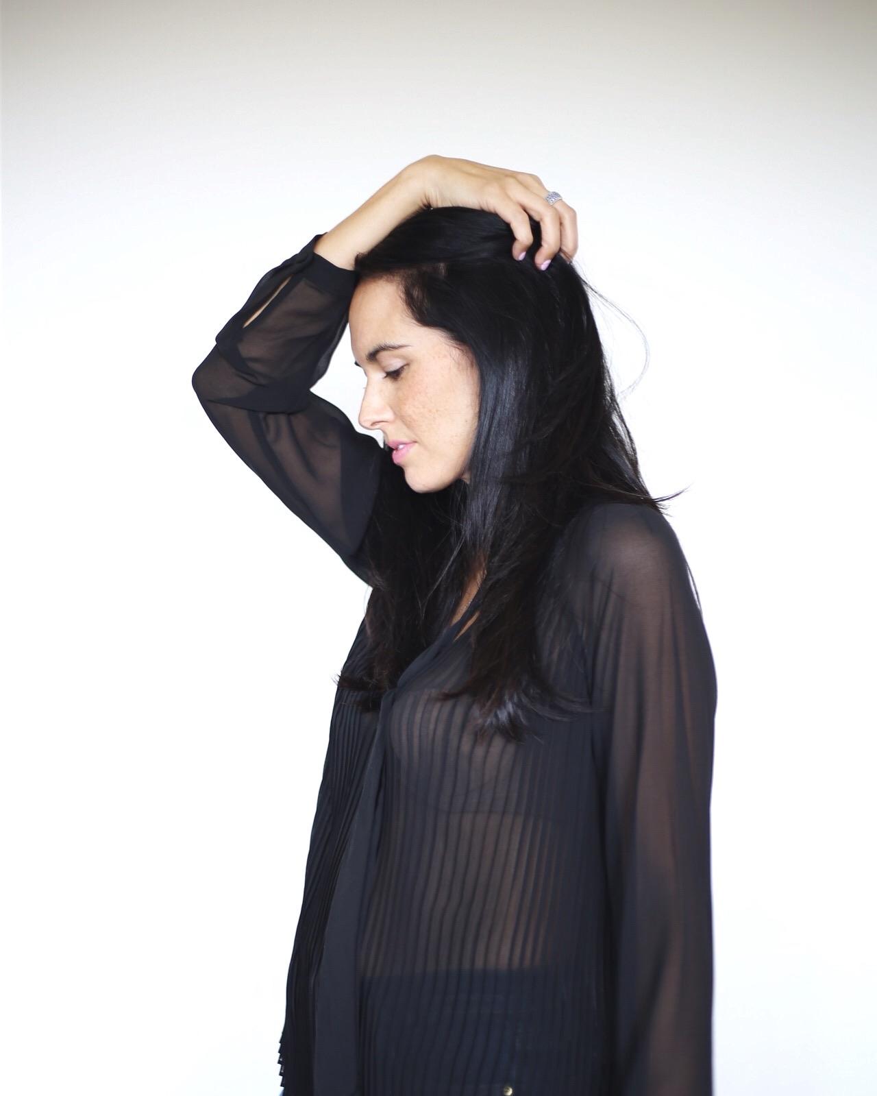   sheer blouse  similar    photo by SYDNEY CLAWSON