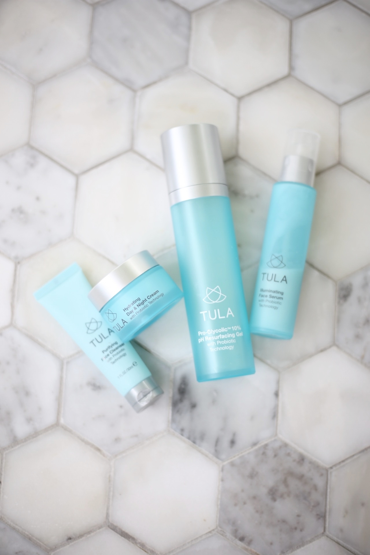 |  cleanser  |  day and night cream  |  pro-glycolic gel  |  illuminating serum  | image Sydney Clawson |