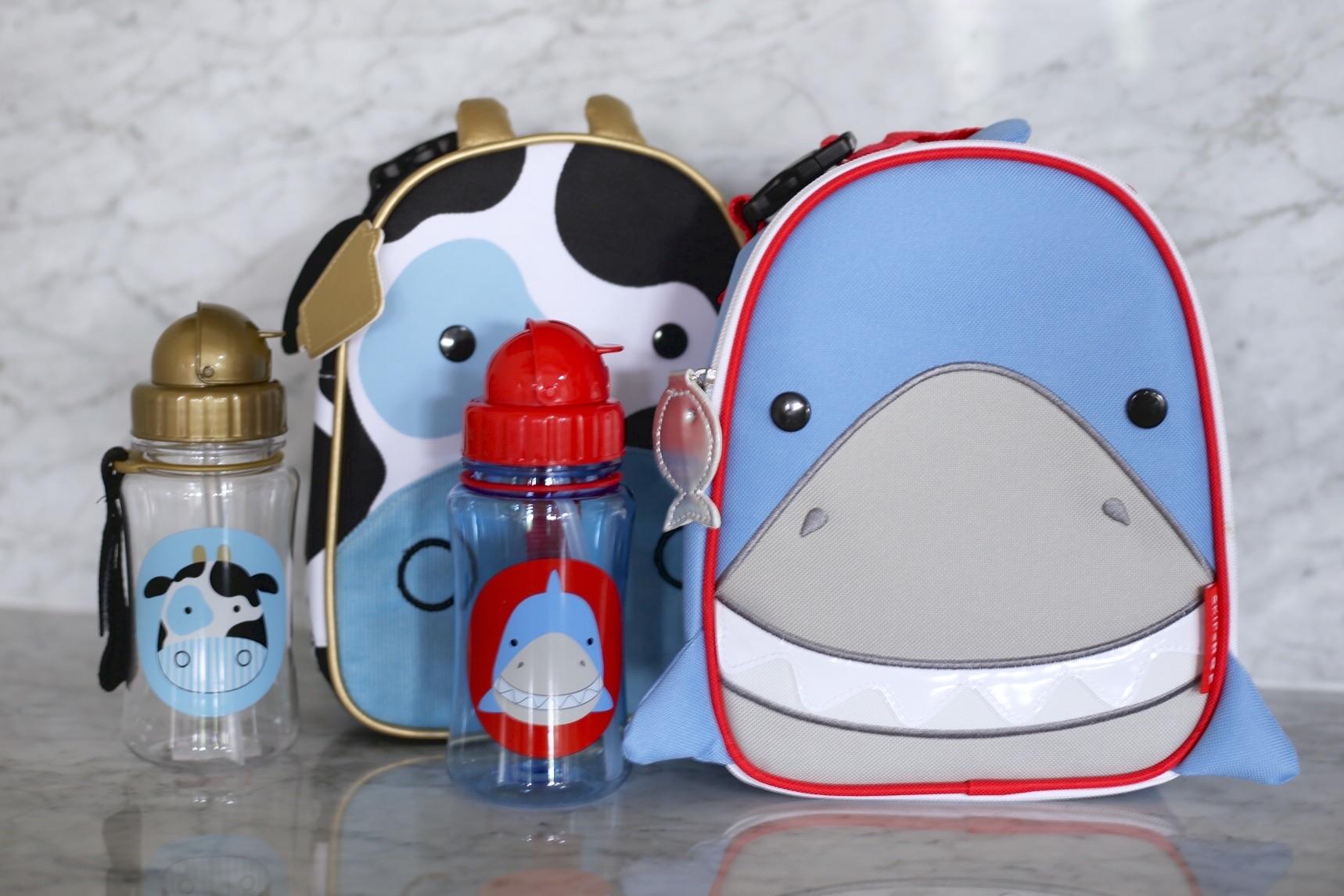 |  cow lunchie  |  cow bottle  |  shark lunchie  |  shark bottle  | image sydney clawson |