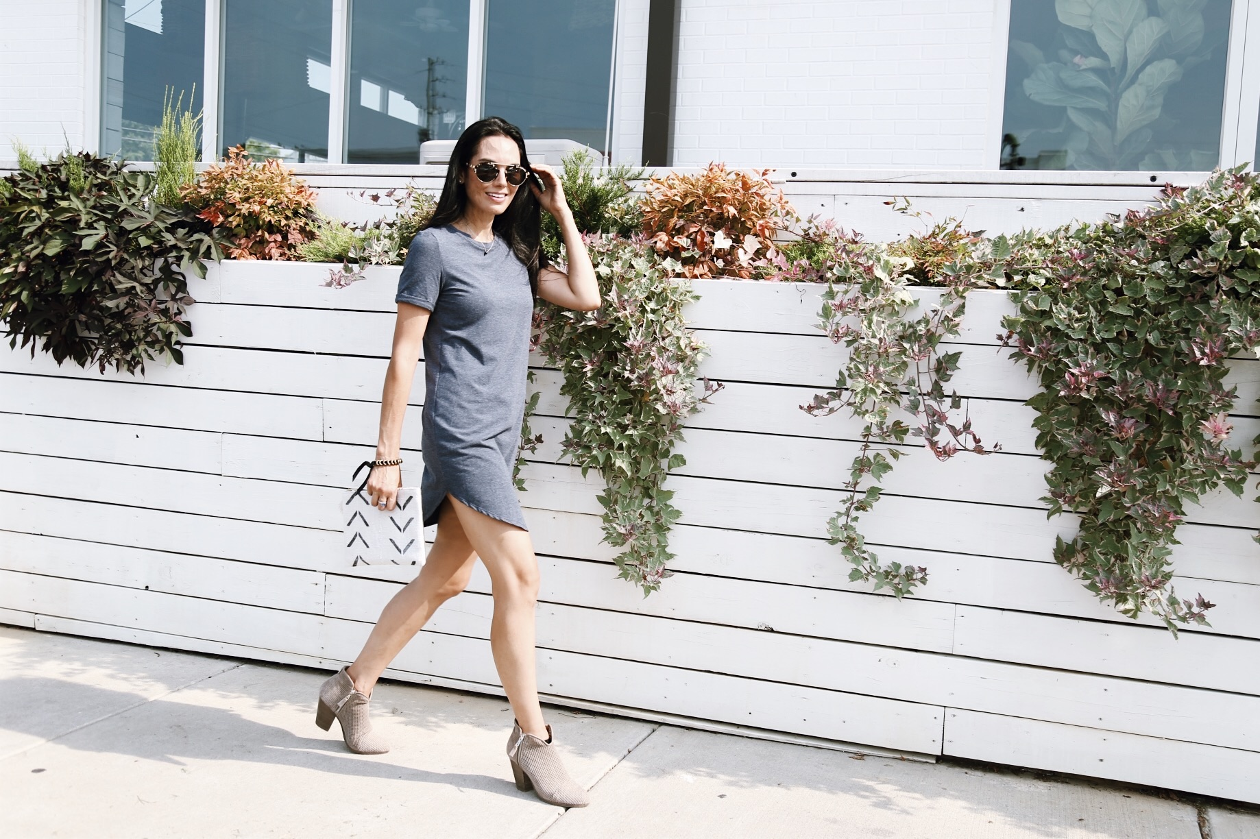 |  rag and bone booties 50% off  |  sunnies similar  |  dress similar  |  clutch  | image by Sydney Clawson |