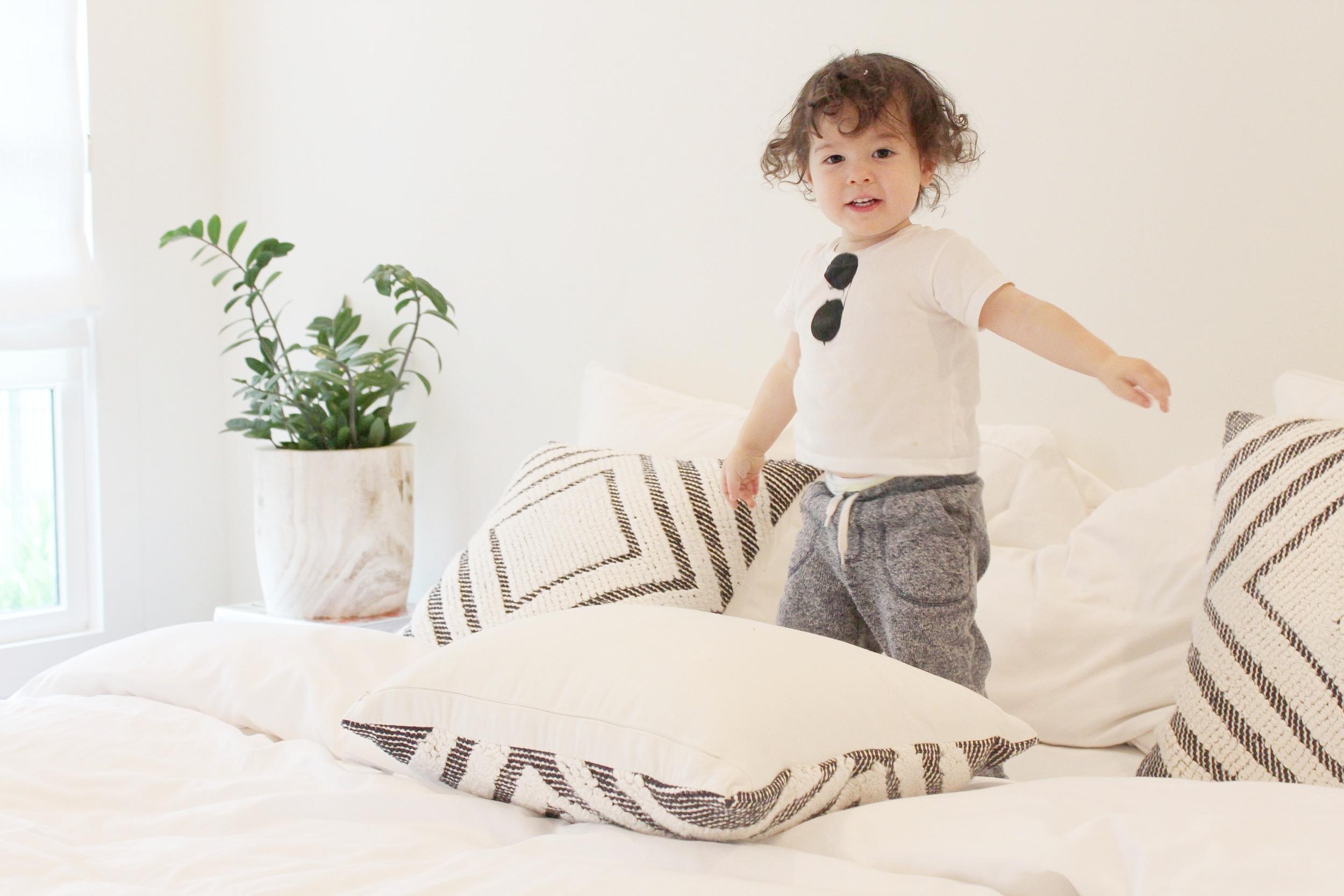    pillows (75% off! under $25)    duvet     down comforter     sheets   