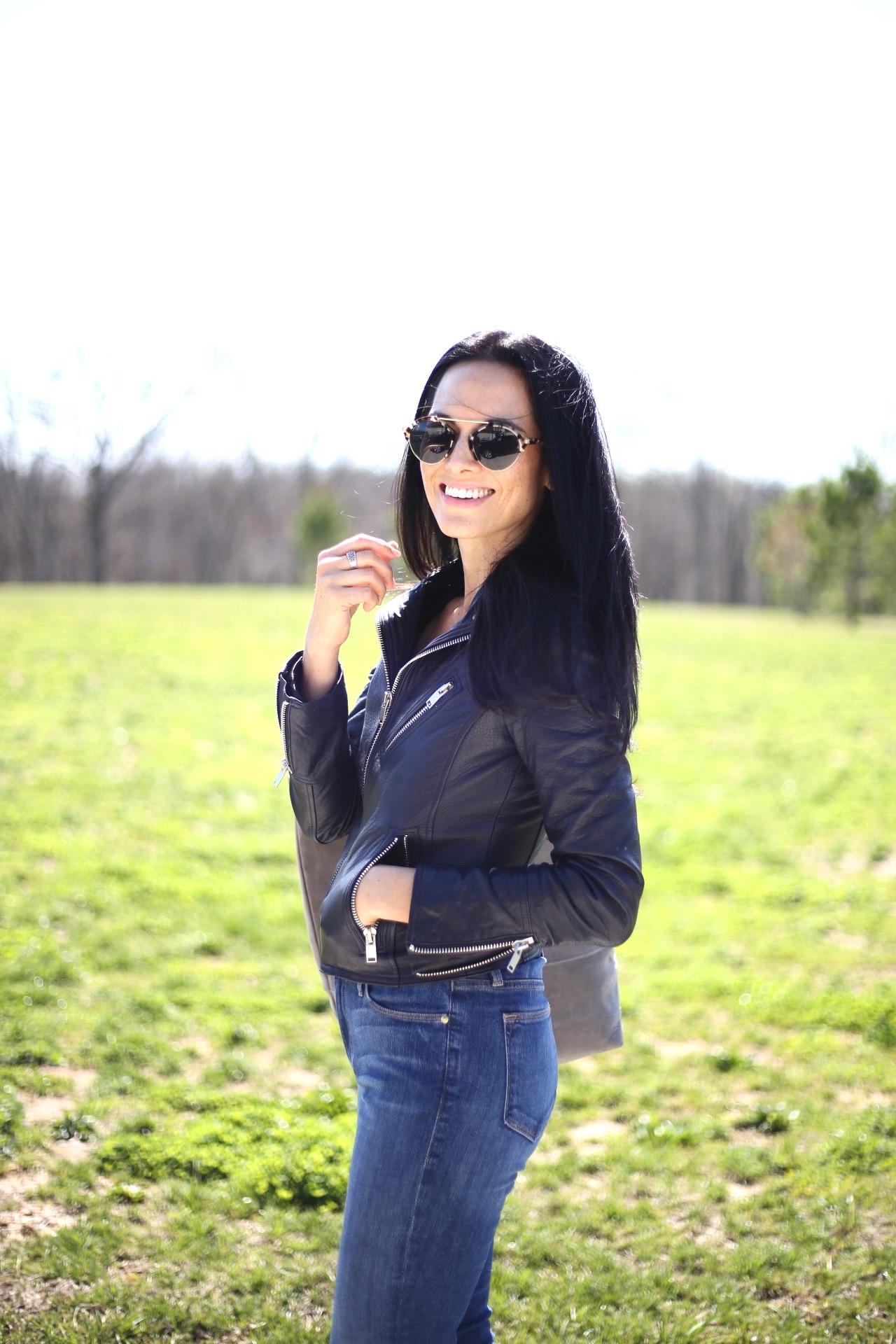|  leather jacket  extra 25% off |  frame denim similar  extra 20% off |  sunnies similar  |  | image sydney clawson |