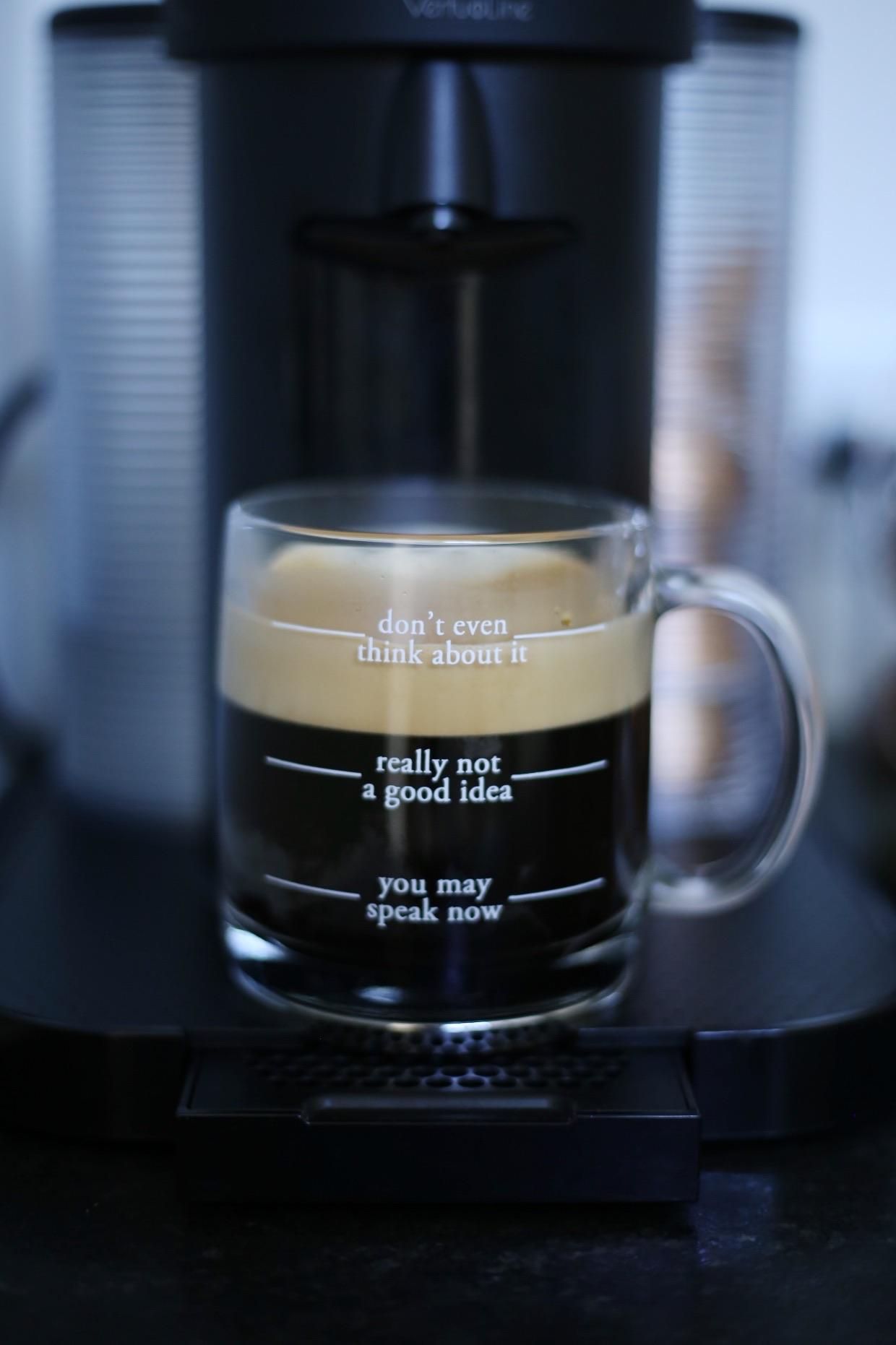 |  coffee mug  |  nespresso machine  | image by sydney clawson |