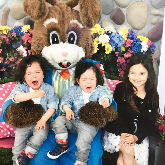 """There's nothing funny about perfection"". -Jason Bateman . .  @jason_bateman via @kristenanniebell (also we just might skip this weeks visit because ⬆️ sorta wins) #goodfriday #fbf #easterbunnyfail #twinboys #twinmomlife #twinbrothers #ellenratemybaby #mamaof3 #honestmotherhood"