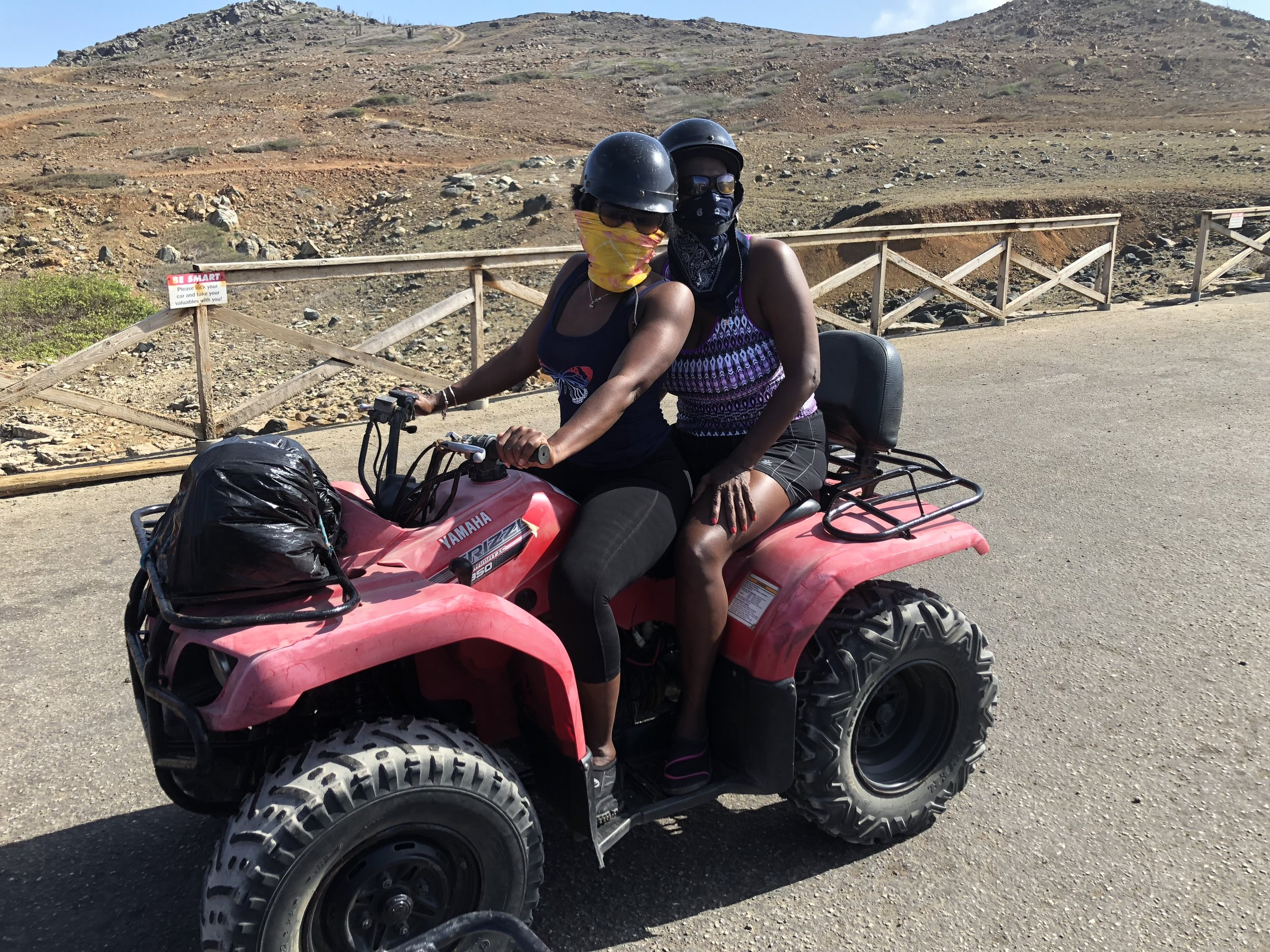 ATV riding through the deserts to the Natural Pool.