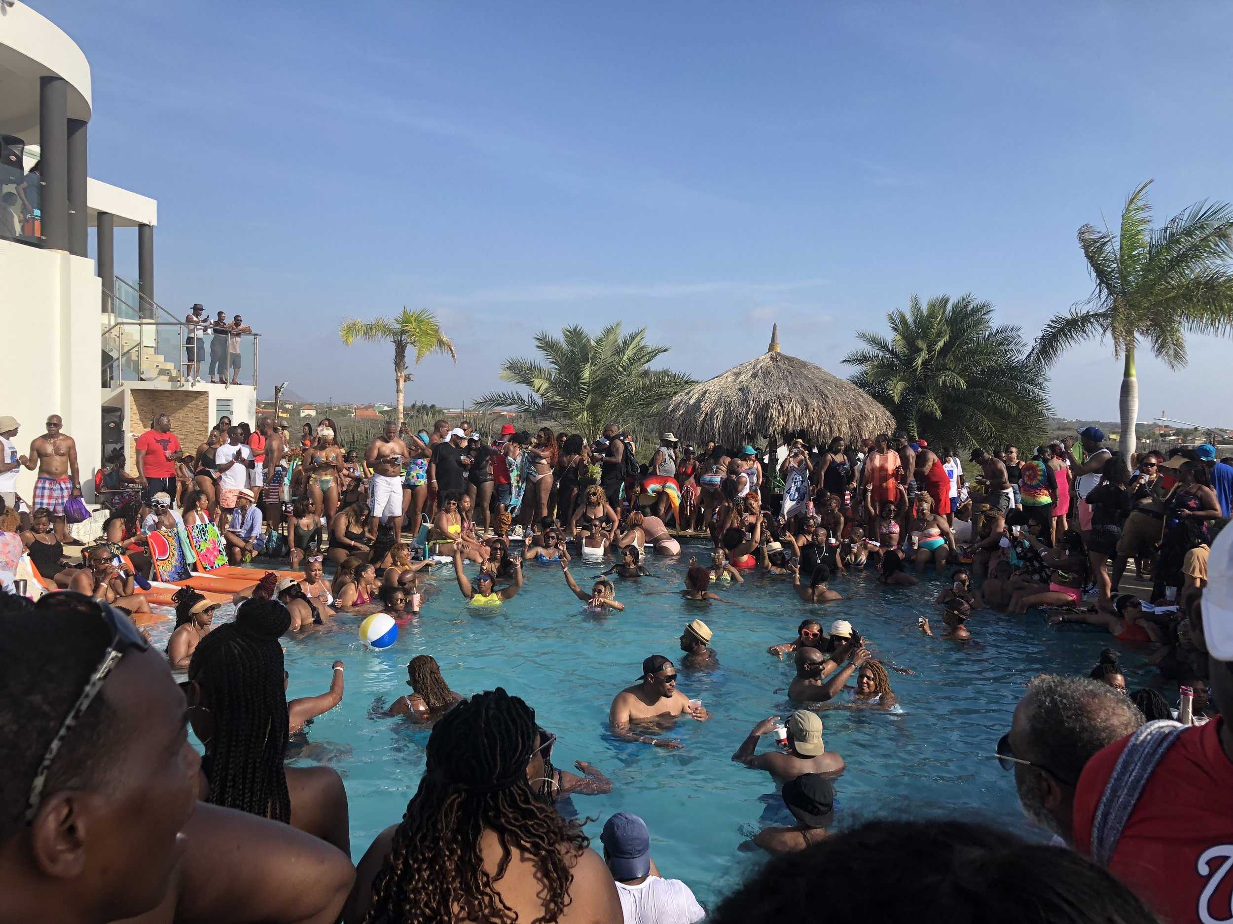 Mansion Party hosted by one of the Aruba social groups.