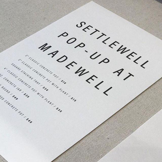 Madewell   SETTLEWELL Pop-Up Shop  South Coast Plaza Costa Mesa, CA  July 30, 2017